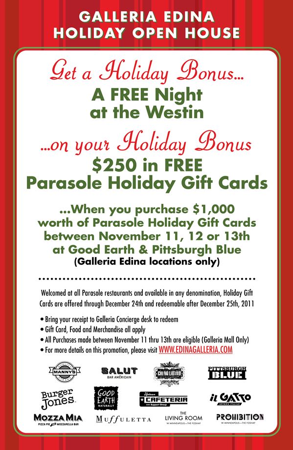 Parasole Gift Cards Parasole Restaurant Holdings Creator Operator ...